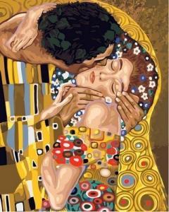 Фото Картины на холсте по номерам, Картины великих художников Картина по номерам в коробке Babylon Поцелуй 40х50см (VP 547)