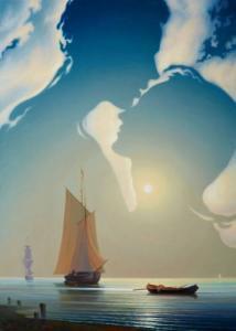 Фото Картины на холсте по номерам, Романтические картины. Люди Картина по номерам в коробке Babylon Лунный мираж 40х50см (MS 521)