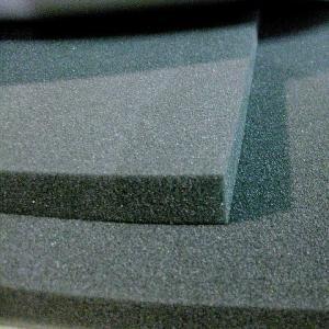 Фото Поролон, синтепон, синтепух (холлофайбер), Темно-серый поролон Поролон листовой темно-серый 1х2м  толщина 50мм