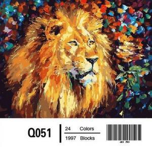 Фото Картины на холсте по номерам, Животные. Птицы. Рыбы... Картина по номерам в коробке  Mariposa Великолепный лев 40х50см (Q051)