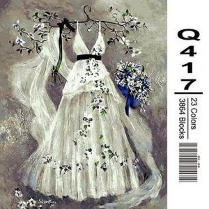 Фото Картины на холсте по номерам, Романтические картины. Люди Картина по номерам в коробке Mariposa Платье невесты 40х50см (Q417)