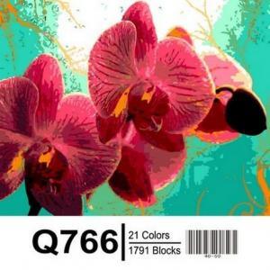 Фото Картины на холсте по номерам, Букеты, Цветы, Натюрморты Картина по номерам в коробке Mariposa Тропическая орхидея 40х50см (Q766)
