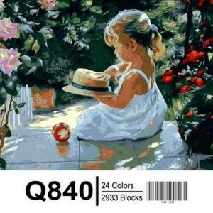 Фото Картины на холсте по номерам, Дети на картине Картина по номерам в коробке Mariposa Девочка со шляпкой 40х50см (Q840)