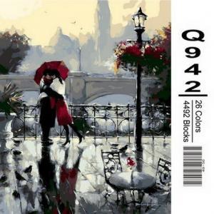 Фото Картины на холсте по номерам, Романтические картины. Люди Картина по номерам в коробке Mariposa Поцелуй под дождем 40х50см (Q942)