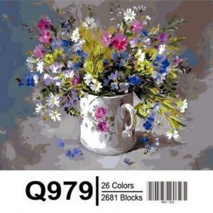 Фото Картины на холсте по номерам, Букеты, Цветы, Натюрморты Картина по номерам в коробке Mariposa Подарок для любимой 40х50см (Q979)