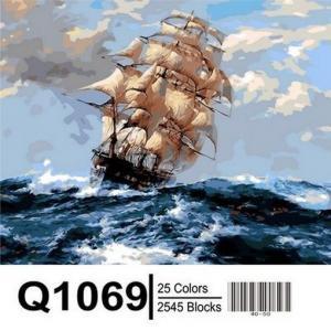 Фото Картины на холсте по номерам, Морской пейзаж Картина по номерам Mariposa  На всех парусах  Q1069 40х50см в коробке