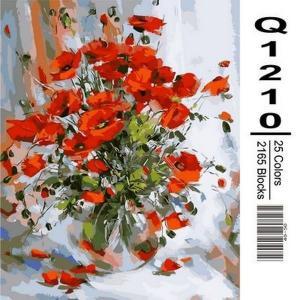 Фото Картины на холсте по номерам, Букеты, Цветы, Натюрморты Картина по номерам в коробке Mariposa Нежные маки 40х50см (Q1210)