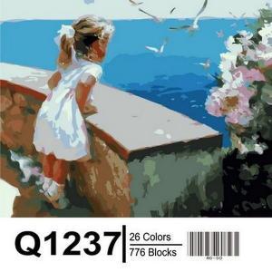 Фото Картины на холсте по номерам, Дети на картине Картина по номерам в коробке Mariposa Ласковое море 40х50см в коробке (Q1237)