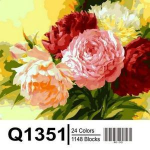 Фото Картины на холсте по номерам, Букеты, Цветы, Натюрморты Картина по номерам в коробке Mariposa Шикарные пионы 40х50см (Q1351)