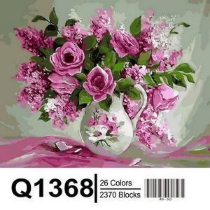 Фото Картины на холсте по номерам, Букеты, Цветы, Натюрморты Картина по номерам в коробке Mariposa Розовая нежность 40х50см (Q1368)