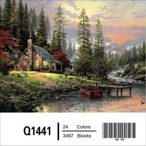 Фото Картины на холсте по номерам, Загородный дом Картина по номерам Mariposa Охотничий домик Q1441 40х50см  в коробке