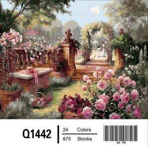 Фото Картины на холсте по номерам, Загородный дом Картина по номерам Mariposa Райский сад  Q1442 40х50см  в коробке