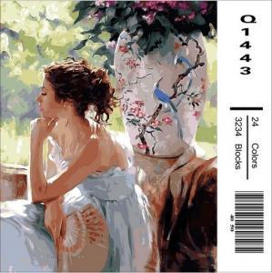 Фото Картины на холсте по номерам, Романтические картины. Люди Картина по номерам в коробке Mariposa Мечтательница 40х50смв (Q1443)
