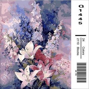 Фото Картины на холсте по номерам, Букеты, Цветы, Натюрморты Картина по номерам  в коробке Mariposa Розовые лилии 40х50см (Q1445)