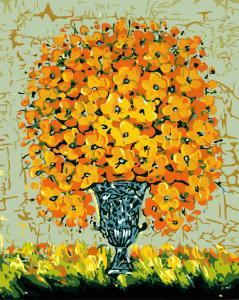 Фото Картины на холсте по номерам, Картины  в пакете (без коробки) 50х40см; 40х40см; 40х30см, Цветы, букеты, натюрморты Картина по номерам без коробки Paintboy Солнечный букет 40х50см (GX 8095)