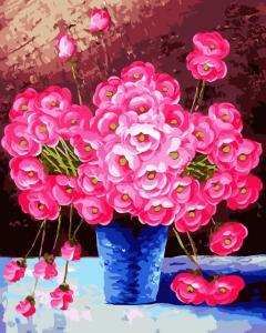 Фото Картины на холсте по номерам, Картины  в пакете (без коробки) 50х40см; 40х40см; 40х30см, Цветы, букеты, натюрморты Картина по номерам без коробки Paintboy Розовое облако 40х50см (GX 9162)