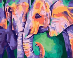 Фото Картины на холсте по номерам, Животные. Птицы. Рыбы... Картина по номерам в коробке Идейка Индийские краски 40х50см (KH 2456)