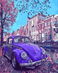 Фото Картины на холсте по номерам, Городской пейзаж Картина по номерам в коробке Идейка В стиле ретро 40х50см (KH 2503)