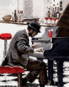 Фото Картины на холсте по номерам, Романтические картины. Люди Картина по номерам в коробке Babylon Блюз зимнего вечера 40х50см (VP794)