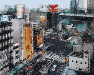 Фото Картины на холсте по номерам, Городской пейзаж Картина по номерам в коробке Babylon Дождь в мегаполисе  40х50см (VP 953)