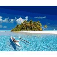 Фото Картины на холсте по номерам, Морской пейзаж Картина по номерам Mariposa Бесконечный океан  Q 2153 40х50см в коробке