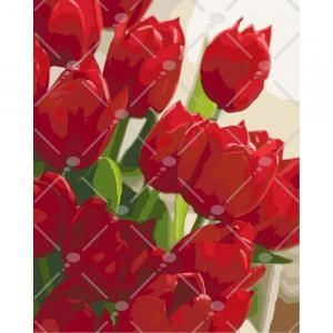 Фото Картины на холсте по номерам, Картины  в пакете (без коробки) 50х40см; 40х40см; 40х30см, Цветы, букеты, натюрморты Картина по номерам без коробки Идейка Любимой 40х50см (KHO 2945)