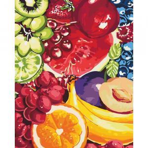 Фото Картины на холсте по номерам, Картины  в пакете (без коробки) 50х40см; 40х40см; 40х30см, Цветы, букеты, натюрморты Картина по номерам без коробки Идейка Сладкие фрукты 40х50см (KHO 2937)