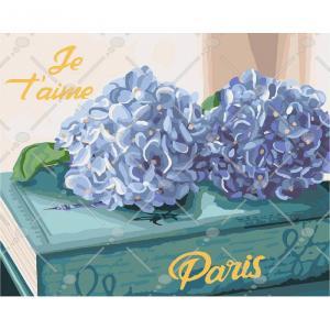 Фото Картины на холсте по номерам, Картины  в пакете (без коробки) 50х40см; 40х40см; 40х30см, Цветы, букеты, натюрморты Картина по номерам без коробки Идейка Любимый Париж 40х5см (KHO 3034)