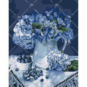 Фото Картины на холсте по номерам, Картины  в пакете (без коробки) 50х40см; 40х40см; 40х30см, Цветы, букеты, натюрморты Картина по номерам без коробки Идейка Утро у бабушки 40х50см (KHO 3036)