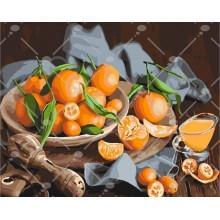 Фото Картины на холсте по номерам, Картины  в пакете (без коробки) 50х40см; 40х40см; 40х30см, Цветы, букеты, натюрморты Картина по номерам без коробки Идейка Оранжевое наслаждение 40х50см (KHО 5545)