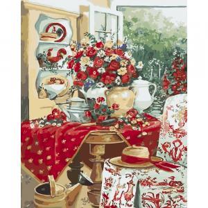 Фото Картины на холсте по номерам, Картины  в пакете (без коробки) 50х40см; 40х40см; 40х30см, Цветы, букеты, натюрморты Картина по номерам без коробки Идейка Чудесная дача 40х50см (KHO 2516)