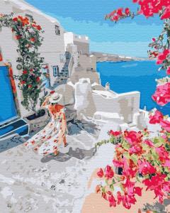 Фото Картины на холсте по номерам, Картины  в пакете (без коробки) 50х40см; 40х40см; 40х30см, Цветы, букеты, натюрморты Картина по номерам без коробки Paintboy Цветущая Греция 40х50см (GX 34836)