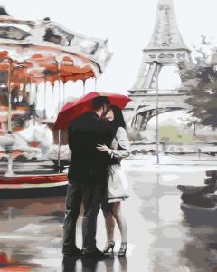 Фото Картины на холсте по номерам, Романтические картины. Люди Картина по номерам в коробке Paintboy Однажды в Париже 40х50см (KGX 3015)