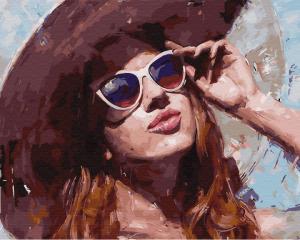 Фото Картины на холсте по номерам, Романтические картины. Люди Картина по номерам в коробке Paintboy Взгляд на солнце 40х50см (KGX 31081)