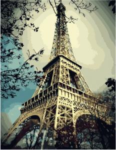 Фото Картины на холсте по номерам, Городской пейзаж Картина по номерам в коробке Paintboy Эйфелева башня  40х50см  (KGX 3509)