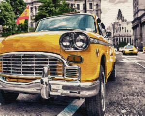 Фото Картины на холсте по номерам, Городской пейзаж Картина по номерам без коробки Paintboy Ретро на улицах Испании 40х50см (GX 34022)