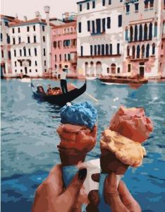 Фото Картины на холсте по номерам, Городской пейзаж Картина по номерам без коробки Paintboy Путешествие по Венеции 40х50см  (GX 28595)