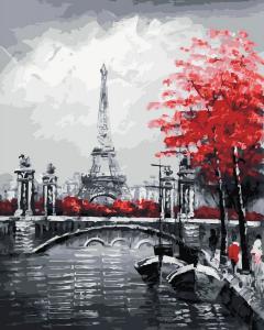 Фото Картины на холсте по номерам, Городской пейзаж Картина по номерам в коробке Paintboy  Осенний Париж  40х50см (KGX 29901)