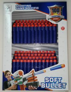 Фото Игрушечное Оружие, Стреляет поролоновыми пульками, снарядами, шариками, стрелами и т. д. Поролоновые снаряды типа NERF  E102/3  100шт