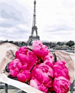 Фото Картины на холсте по номерам, Букеты, Цветы, Натюрморты Картина по номерам в коробке Paintboy Пионы в Париже 40х50см (KGX 31855)