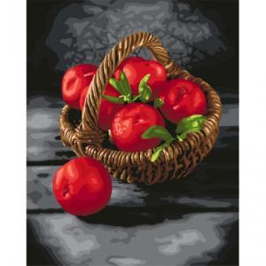 Фото Картины на холсте по номерам, Картины  в пакете (без коробки) 50х40см; 40х40см; 40х30см, Цветы, букеты, натюрморты Картина по номерам без коробки Идейка Яркие витамины 40х50см (KHO 5585)