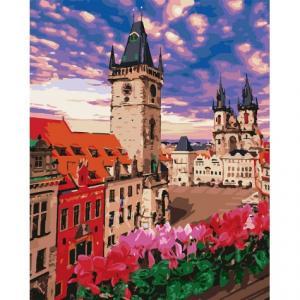 Фото Картины на холсте по номерам, Городской пейзаж Картина по номерам без коробки Идейка Невероятная Прага 40х50см (KHO 3574)