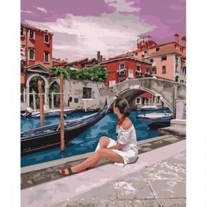 Фото Картины на холсте по номерам, Картины  в пакете (без коробки) 50х40см; 40х40см; 40х30см, Романтические картины. Люди. Картина по номерам без коробки Идейка Удивительная Венеция 40х50см (KHO 4658)