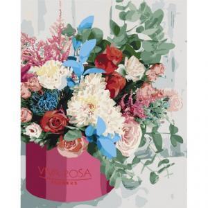 Фото Картины на холсте по номерам, Букеты, Цветы, Натюрморты Картина по номерам в коробке Идейка Изысканный букет 40х50см (KH 3069)