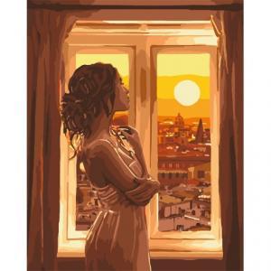 Фото Картины на холсте по номерам, Романтические картины. Люди Картина по номерам в коробке Идейка Золотой рассвет 40х50см (KH 4648)