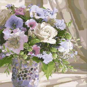 Фото Картины на холсте по номерам, Букеты, Цветы, Натюрморты Картина по номерам в коробке Идейка Полевой букет 40х40см (KH 3087)