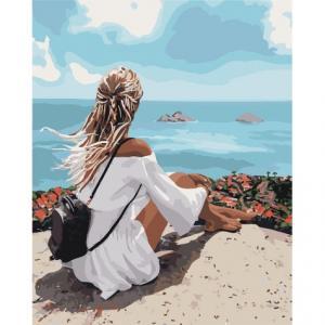 Фото Картины на холсте по номерам, Романтические картины. Люди Картина по номерам в коробке Идейка Созерцая высоту 40х50см (KH 4711)