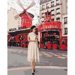 Фото Картины на холсте по номерам, Романтические картины. Люди Картина по номерам в коробке Идейка Moulin Rouge 40х50см (KH 4657)
