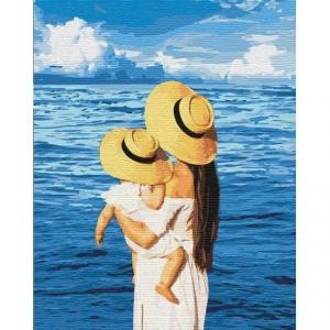 Фото Картины на холсте по номерам, Романтические картины. Люди Картина по номерам в коробке Идейка Шепот моря 40х50см (KH 4738)