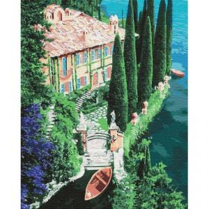 Фото Картины на холсте по номерам, Морской пейзаж Картина по номерам Идейка  Дом на побережье KH2750 50х40см в коробке